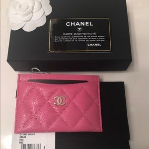 Chanel O-Card Case 19C Pink